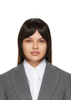 MM6 Maison Margiela Silver & Brown Real Hair Headband
