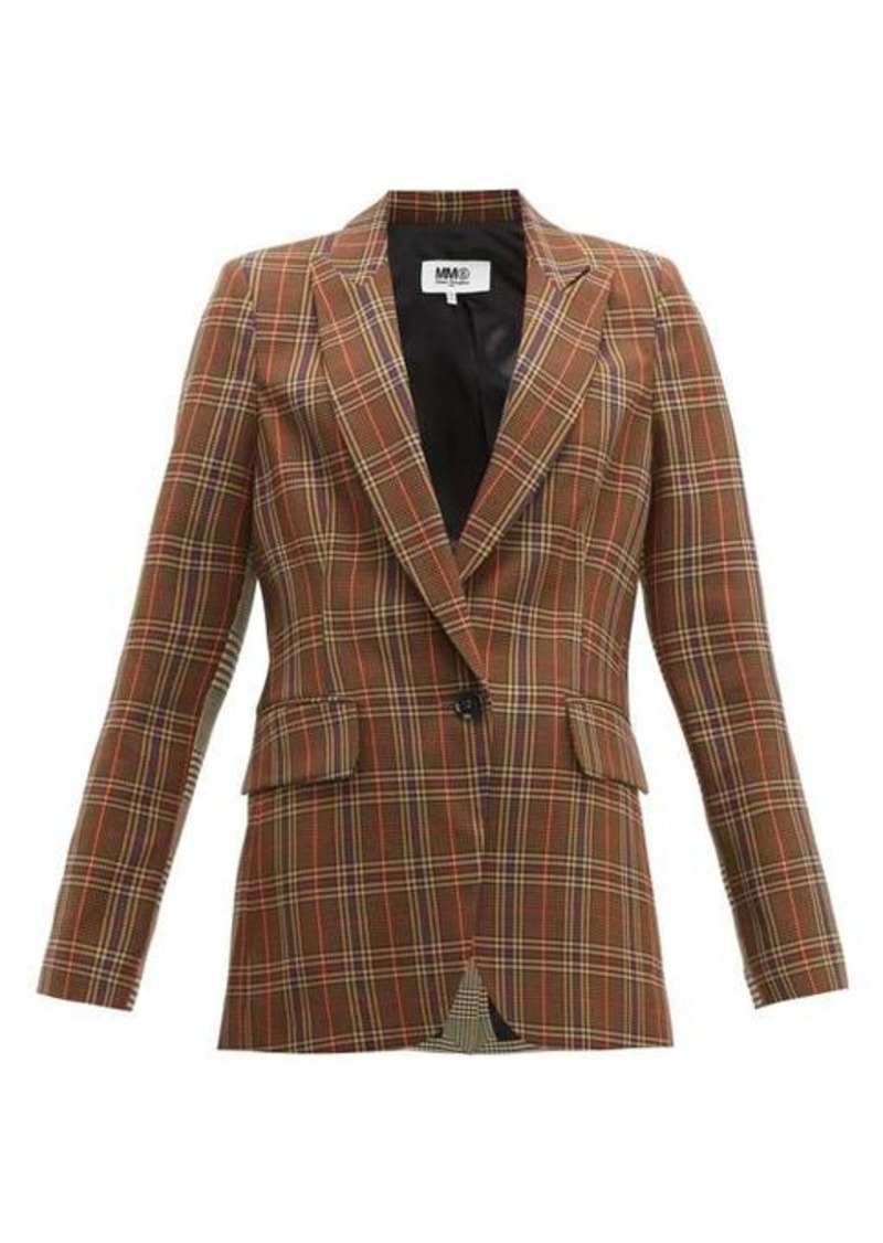 MM6 Maison Margiela Single-breasted two-tone checked blazer