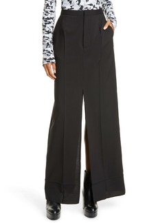 MM6 Maison Margiela Slit Wool Maxi Skirt