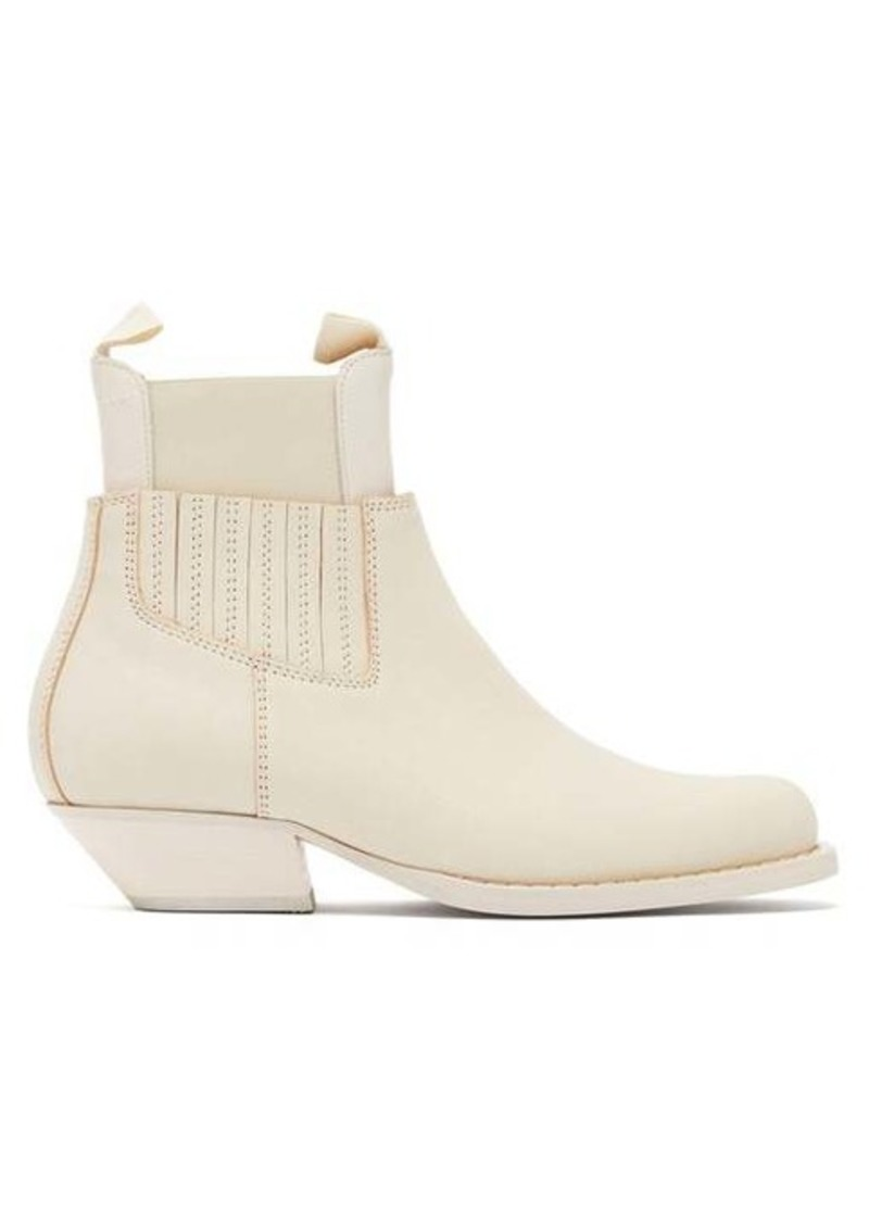 MM6 Maison Margiela Square-toe western leather ankle boots