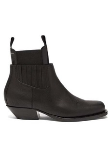 MM6 Maison Margiela Square toe western leather ankle boots