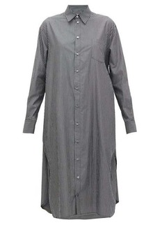 MM6 Maison Margiela Striped cotton-poplin shirtdress