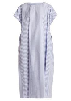 MM6 Maison Margiela Striped oversized cotton-poplin dress