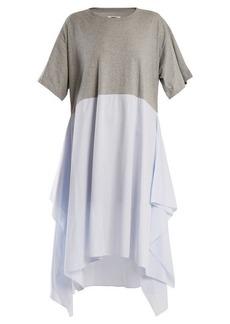 MM6 Maison Margiela Striped-panel cotton-jersey dress
