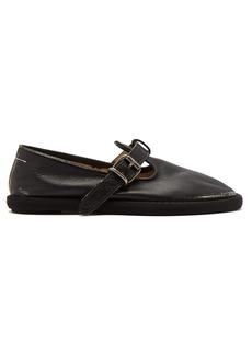 MM6 Maison Margiela T-strap leather flats