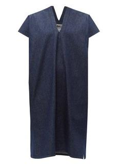 MM6 Maison Margiela V-neck raw-denim dress