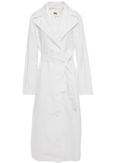 Mm6 Maison Margiela Woman Belted Cotton-poplin Trench Coat White
