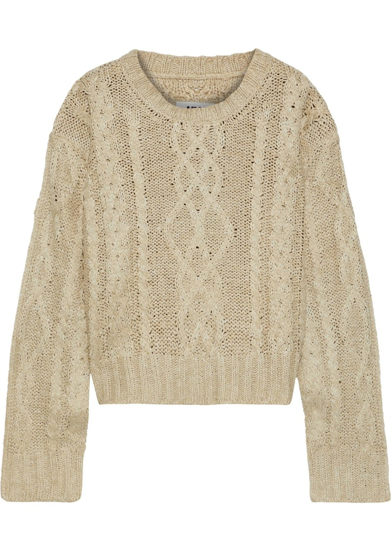 Mm6 Maison Margiela Woman Cable-knit Sweater Sand