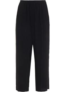 Mm6 Maison Margiela Woman Cady Wide-leg Pants Black