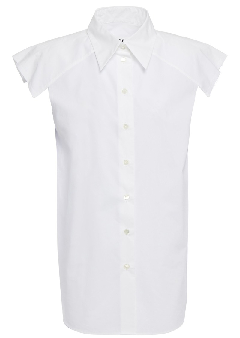 Mm6 Maison Margiela Woman Cotton-poplin Top White