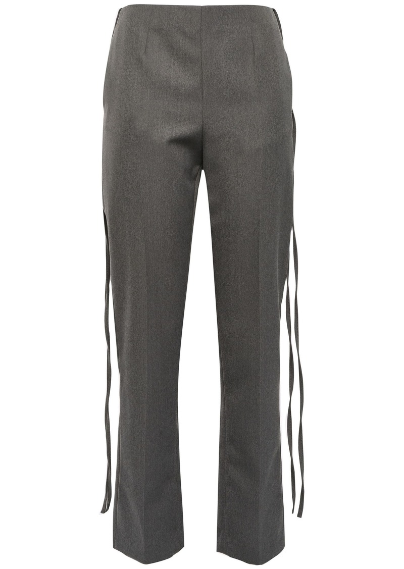 Mm6 Maison Margiela Woman Draped Twill Straight-leg Pants Gray