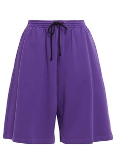 Mm6 Maison Margiela Woman French Cotton-terry Shorts Violet