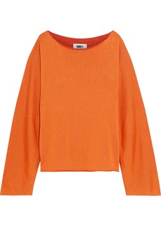 Mm6 Maison Margiela Woman Knitted Sweater Orange