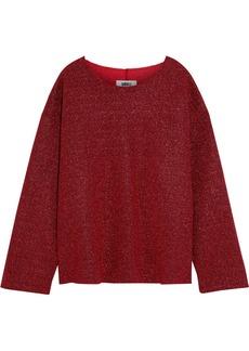 Mm6 Maison Margiela Woman Oversized Metallic Bouclé Sweater Red