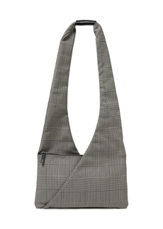 Mm6 Maison Margiela Woman Prince Of Wales Checked Wool-blend Shoulder Bag Gray