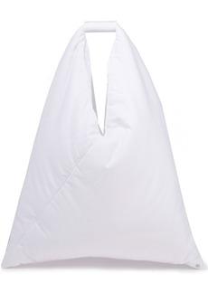 Mm6 Maison Margiela Woman Printed Cotton Shoulder Bag White