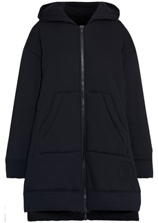 Mm6 Maison Margiela Woman Quilted Cotton-jersey Hooded Coat Black