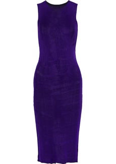 Mm6 Maison Margiela Woman Ribbed Cotton Dress Violet