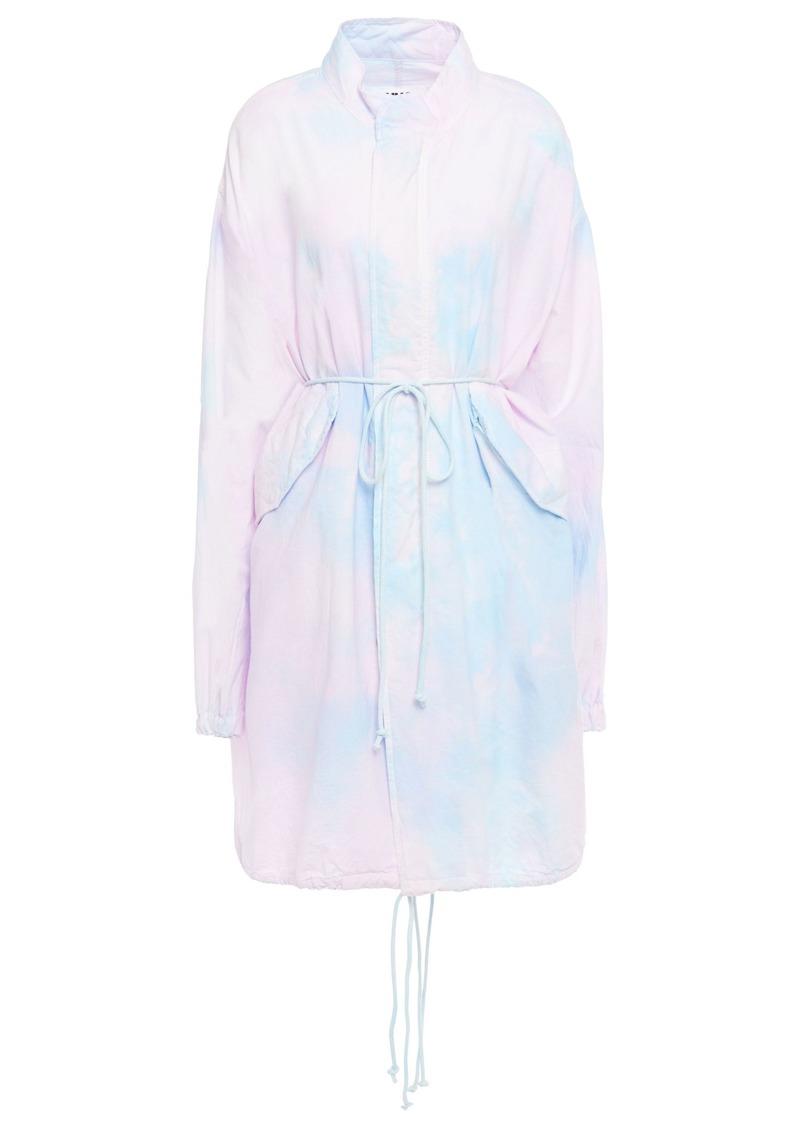 Mm6 Maison Margiela Woman Tie-dyed Cotton Jacket Pastel Pink
