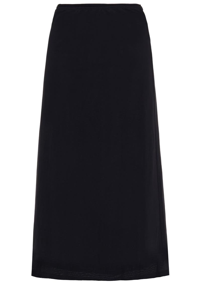 Mm6 Maison Margiela Woman Tulle Midi Skirt Black