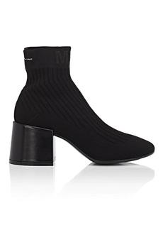 MM6 Maison Margiela Women's Block-Heel Knit Ankle Boots