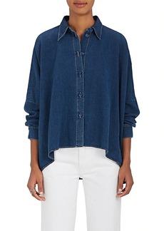 MM6 Maison Margiela Women's Denim Button-Front Blouse