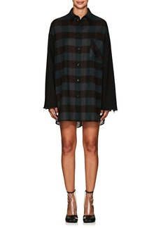 MM6 Maison Margiela Women's Denim-Trimmed Plaid Wool Shirtdress
