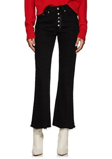 MM6 Maison Margiela Women's Distressed High-Rise Flared Crop Jeans