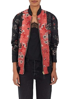 MM6 Maison Margiela Women's Floral Jacquard Bomber Jacket