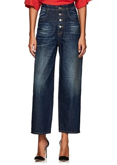 MM6 Maison Margiela Women's High-Rise Tapered Wide-Leg Jeans
