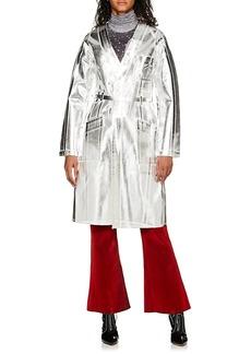 MM6 Maison Margiela Women's Metallic Cotton Denim Belted Jacket