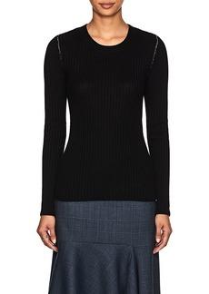 MM6 Maison Margiela Women's Open-Back Rib-Knit Wool-Blend Top