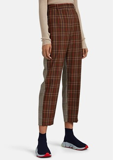 MM6 Maison Margiela Women's Patchwork Plaid-Weave Crop Pants