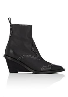MM6 Maison Margiela Women's Santiag Leather Ankle Boots