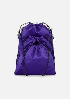 MM6 Maison Margiela Women's Satin Triple-Pouch Crossbody Bag - Purple