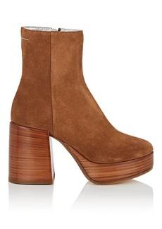 MM6 Maison Margiela Women's Suede Platform Ankle Boots