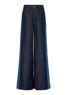Maison Margiela MM6 Two-Tone Rigid High-Rise Wide-Leg Jeans