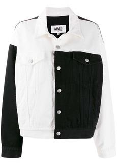Maison Margiela monochrome block denim jacket