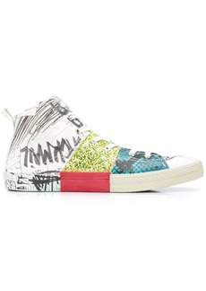 Maison Margiela multi-print high-top sneakers