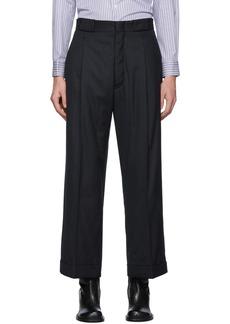 Maison Margiela Navy Stripe Tailoring Trousers