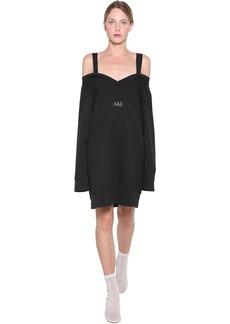 Maison Margiela Off-the-shoulder Cotton Sweater Dress