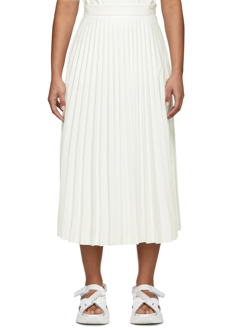 Maison Margiela Off-White Coated Pleated Skirt