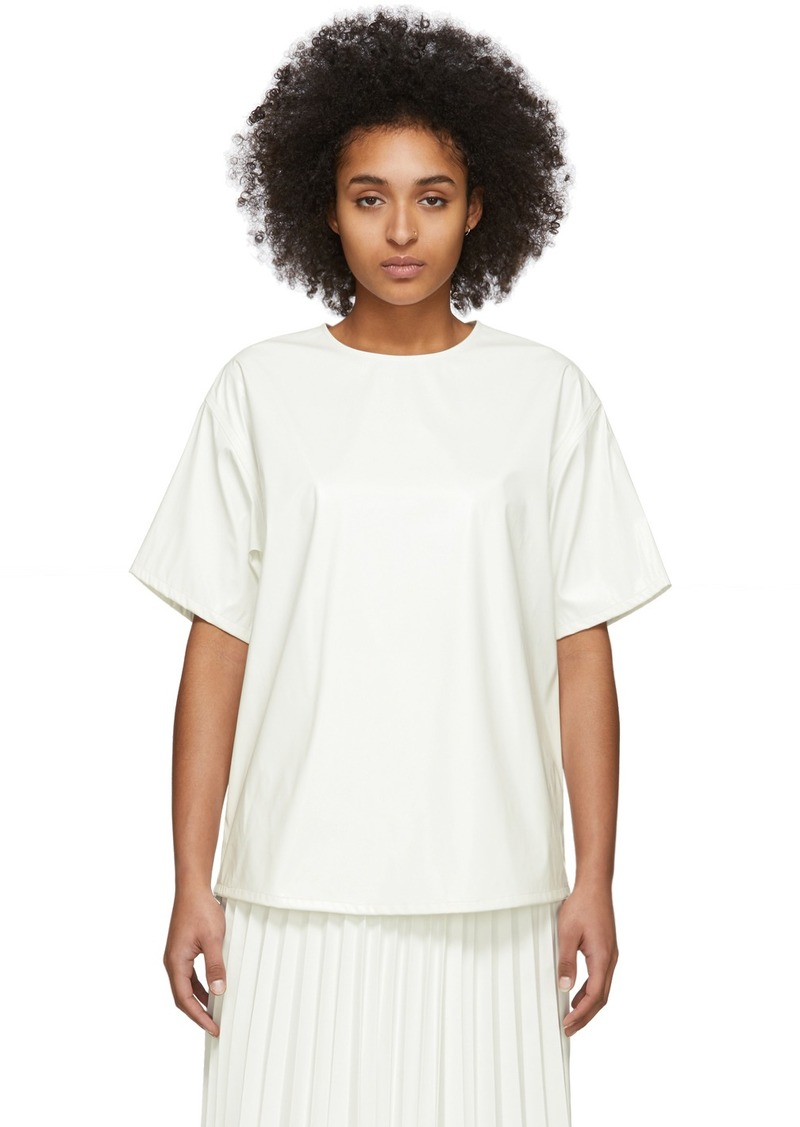 Maison Margiela Off-White Coated Zipped Blouse