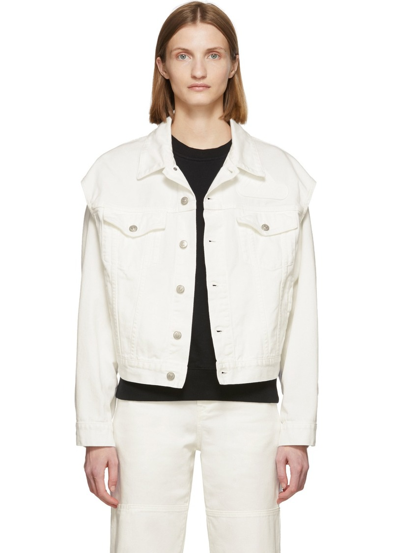 Maison Margiela Off-White Denim Arm Cut Outs Jackets