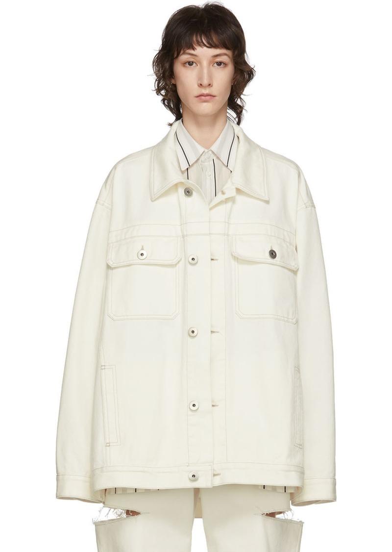 Maison Margiela Off-White Denim Boxy Jacket