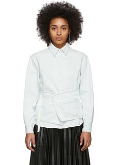Maison Margiela Off-White Denim Crossover Apron Shirt