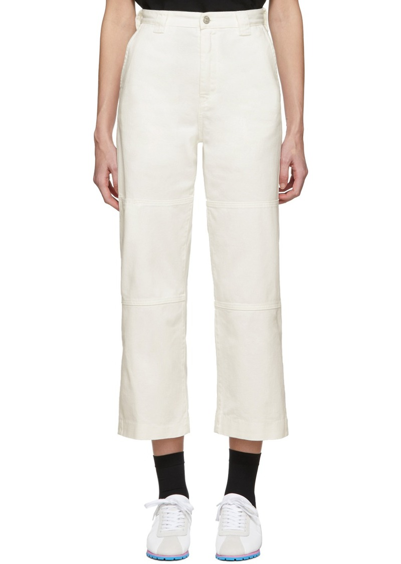 Maison Margiela Off-White Flare Jeans