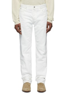 Maison Margiela Off-White Garment-Dyed Jeans