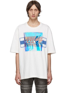 Maison Margiela Off-White Garment-Dyed T-Shirt