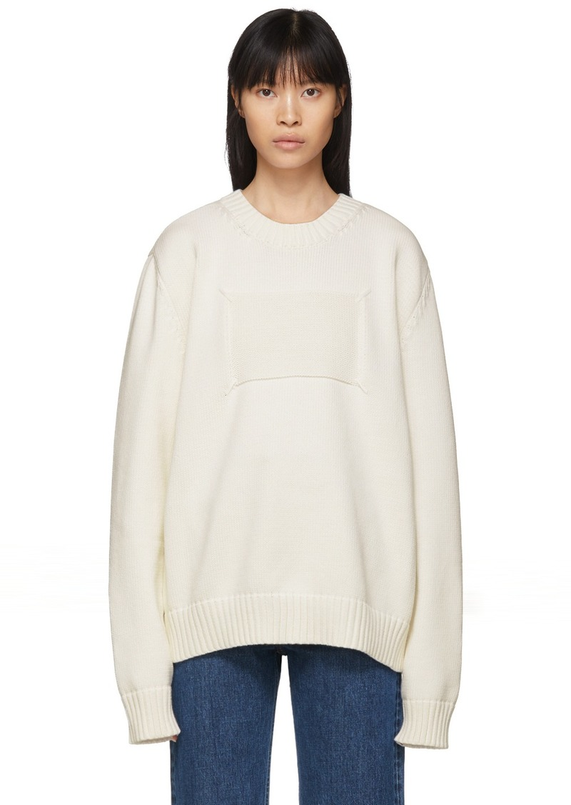Maison Margiela Off-White Memory Of Label Sweater